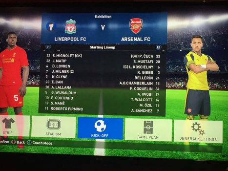 Liverpool vs Arsenal PES Predicts