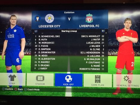 Leicester City versus Liverpool PES Predicts
