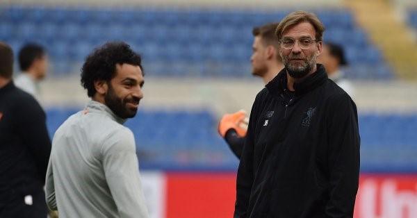 Mohamed Salah With Jurgen Kklopp
